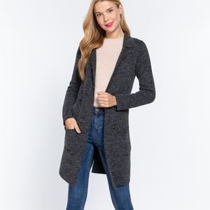 💖Fall Winter Grey Long Jacket 💖